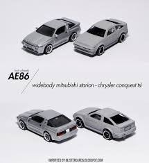 mitsubishi conquest look at my toy cars look results wheels ae86 to widebody