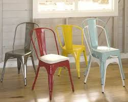 french metal cafe chairs from pottery barn apartment therapy