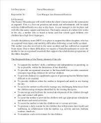 Sample Resume For Nanny Housekeeper by Sample Nanny Job Description 8 Examples In Word Pdf