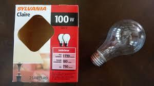 sylvania 100watt incandescent clear light bulbs youtube