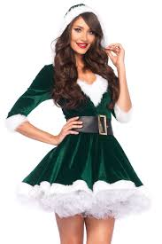 mrs claus costumes green white 2 pc mrs claus costume