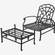 reclining patio chair with ottoman reclining patio chairs with ottoman unique black cast iron porch