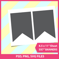 guidon banner template party printable template png banner