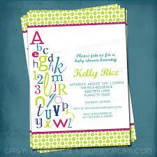 alphabet baby shower invitations theruntime com
