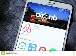 airbnb app editorial image image 74936350