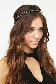 spiked headband lyst gal totally spiked headband in black