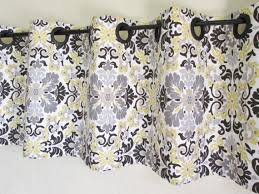 Grommet Top Valances Grommet Valance 50 U0027 U0027x16 U0027 U0027 Waverly Folk Damask Lemondrop Grey Tan