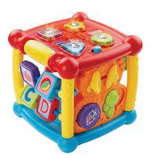 amazon com vtech busy learners activity cube frustration free