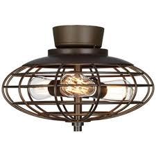 oil rubbed bronze industrial cage 3 60 watt ceiling fan light kit