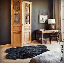 Faux Fur Area Rugs by Fur Accents Black Faux Sheepskin Quatro Area Rug By Fur Accents