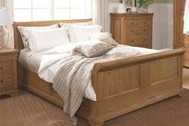Oak Sleigh Bed Bordeaux Oak Sleigh Bed Beds On Legs