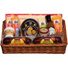 wisconsin cheese gift baskets deli direct wisconsin cheese sausage large gift basket 14 pc