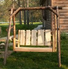 elegant log porch swing u2014 jbeedesigns outdoor