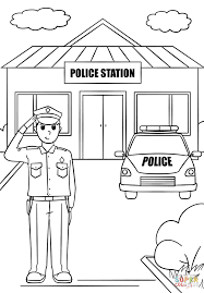 police station coloring page free printable coloring pages
