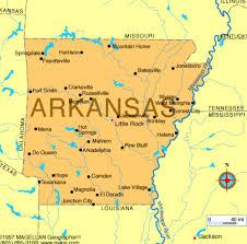 State Of Arkansas Map Dartboard Destination Arkansas Usa Theticket