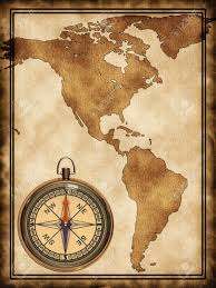 Map Of The United States With Compass by Map With A Compass North And South America Stock Photo Picture