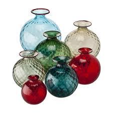 vasi venini prezzi vaso moderno in vetro soffiato monofiori balloton venini