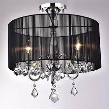 crystal semi flush mount lighting black and chrome semi flush mount crystal chandelier 02 jpg