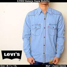 Baju Levis Biru jaket rompi denim pria levis biru muda daftar update harga terbaru
