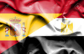 Image Of Flag Of Egypt Waving Flag Of Egypt And Spain Stock Photo Picture And Royalty