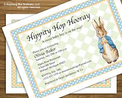Baby Shower Invitation Creator Peter Rabbit Baby Shower Invitations Peter Rabbit Baby Shower