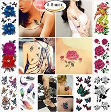 amazon com cokohappy temporary tattoos for women teens girls 8