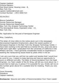 aerospace engineering cover letter sample sample cover letter for