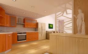interior of kitchen cabinets