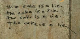 the cake is a lie your meme