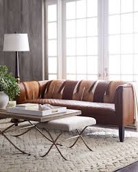 Old Hickory Tannery Pierce Hairhide Leather Sofa - Hickory leather sofa