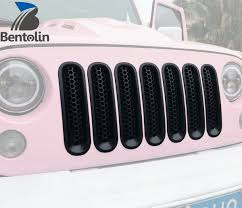 matte pink jeep amazon com upgrade clip in version matte black front grille