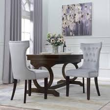 Microsuede Dining Chairs High Back Microfiber Dining Room U0026 Kitchen Chairs For Less