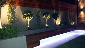cool wooden flooring garden ideas with stylish led lighting decor