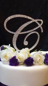 z cake topper 6 initial monogram wedding cake topper swarovski