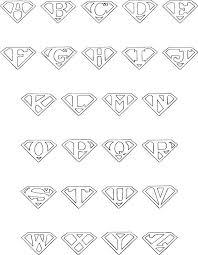 superman logo alphabet google search offices pinterest
