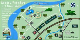 Riverwalk Map Archey Fork Park U2013 City Of Clinton Arkansas