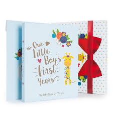 baby boy memory book baby boy gift set with baby memory book 32 baby onesie stickers