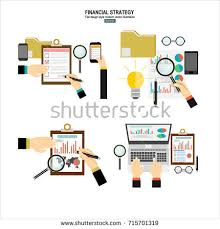 data analysis concept business analytics financial stock vector