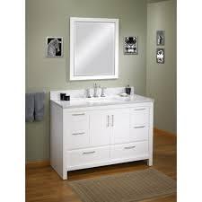 Refurbished Bathroom Vanity by Mesmerizing Design Ideas Using White Flowers And Rectangular Brown