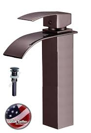 Bathroom Faucet Oil Rubbed Bronze Square Style Oil Rubbed Bronze Bath Bathroom Glass Vessel Sink