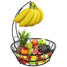 fruit basket esylife fruit basket with banana hook metal fruit bowl display