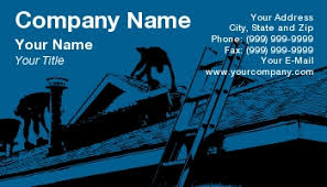 template at141578 roofing construction cards