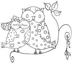 winter coloring pages owl coloring