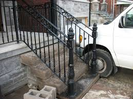 exterior stair railing aluminum exterior stair railings ideas