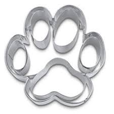 pet pawties in a box precision cut paw print stainless steel
