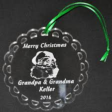personalized acrylic ornament with engraved santa design mccoy