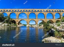 pont du gard old roman aqueduct stock photo 122588512 shutterstock