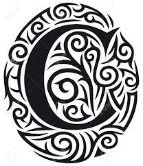 letter c tribal design royalty free cliparts vectors and
