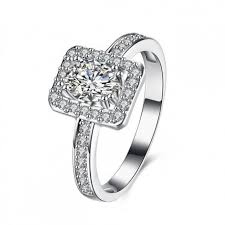 eljegyzesi gyuru 925 sterling ezüst eljegyzési gyűrű cirkónia kövekkel ezüst gyűrű