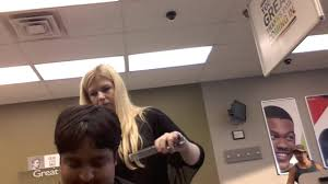 nishant is getting haircut at great clips in brookwood shopping
